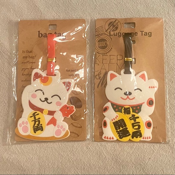 2 Chinese Cat Luggage & Bag Tags